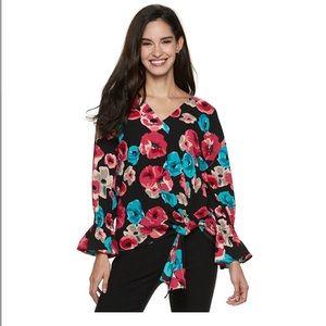 Juicy couture floral blouse size M